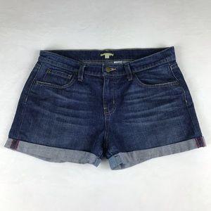 GIANNI BINI Cuffed Denim Shorts Light Distress 28